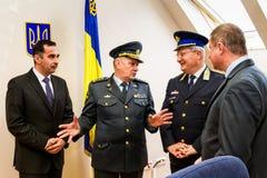 L'apertura del primo punto di contatto unito sul Ucraino-Hu Immagine Stock