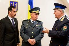 L'apertura del primo punto di contatto unito sul Ucraino-Hu Immagini Stock Libere da Diritti