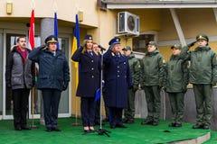 L'apertura del primo punto di contatto unito sul Ucraino-Hu Fotografie Stock