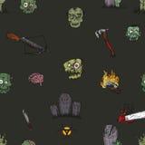 L'apocalisse dello zombie Immagine Stock