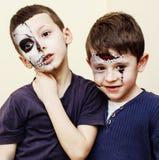 L'apocalypse de zombi badine le concept Facep de célébration de fête d'anniversaire Photographie stock libre de droits