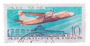 L apochta 1965 de Tak AN-24 sistema de pesos americano Fotografía de archivo