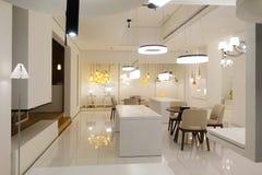 l'apparecchio del montaggio della mobilia del salone ha condotto la luce immagini stock libere da diritti