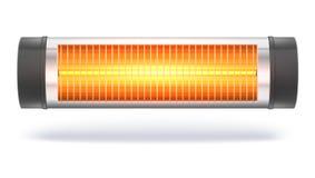 L'appareil de chauffage d'halogène de quartz avec la lampe à lueur, radiateur électrique domestique illustration stock