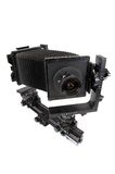 L'appareil-photo de studio pour un film de feuille photo stock