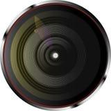 L'appareil-photo dynamique len avec des lumières de couleur Illustration de vecteur illustration libre de droits