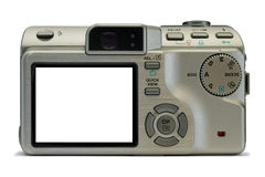 L'appareil photo numérique compact, vident l'affichage Photos stock