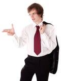 L'apparence d'homme d'affaires confirment le geste Photos stock