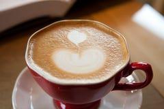 L'apparence d'une belle tasse de café Photographie stock