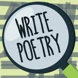 L'apparence de note d'écriture écrivent la poésie Idées mélancoliques roanalysistic de présentation de littérature d'écriture de  illustration stock