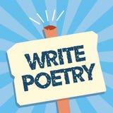 L'apparence de note d'écriture écrivent la poésie Idées mélancoliques roanalysistic de présentation de littérature d'écriture de  illustration libre de droits