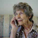 L'appel téléphonique Photo stock