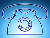 L'appel téléphonique indique des réponses discussion et causerie Photographie stock