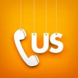L'APPEL USA - exprimez accrocher sur le fond orange Images libres de droits