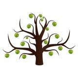 L'apple-albero insolito Immagini Stock
