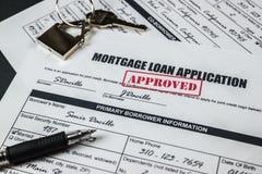 L'application de prêt hypothécaire a approuvé 004 Photographie stock