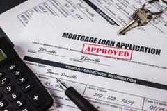 L'application de prêt hypothécaire a approuvé 007 photo libre de droits