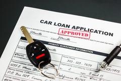 L'applicazione di prestito dell'automobile ha approvato 003 Fotografia Stock
