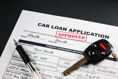 L'applicazione di prestito dell'automobile ha approvato 004 Fotografie Stock