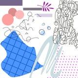 L'applique en pastel d'art avec les éléments géométriques dirigent l'illustration illustration stock
