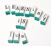 L'apprendimento è divertimento Fotografie Stock Libere da Diritti