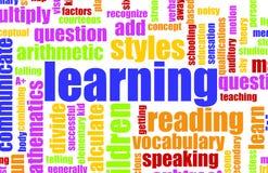 L'apprendimento è divertimento illustrazione di stock