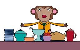 L'approvvigionamento della scimmia illustrazione vettoriale