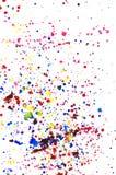 L'aquarelle colorée éclabousse Images libres de droits