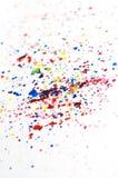 L'aquarelle colorée éclabousse Photos libres de droits