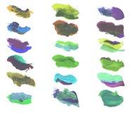 L'aquarelle colorée terne éclabousse illustration libre de droits
