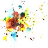 L'aquarelle colorée éclabousse Image libre de droits