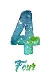 """L'aquarelle de la galaxie ou le ciel nocturne avec des étoiles numérotent le  d'""""Four†Photos stock"""