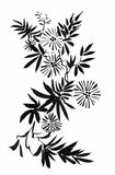 L'aquarelle fleurit dans le style classique sur un fond blanc Images stock