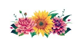 L'aquarelle fleurit le vecteur Photographie stock libre de droits