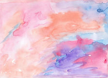 L'aquarelle hahdcrafted le fond coloré doux pour le pho de conception illustration de vecteur