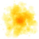 L'aquarelle orange éclabousse Image libre de droits