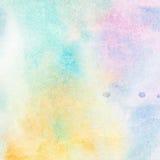 L'aquarelle peinte colorée abstraite légère éclabousse le fond Photographie stock