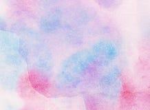 L'aquarelle peinte colorée abstraite légère éclabousse le fond Photo libre de droits