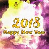 L'aquarelle souille vers 2018/ Image stock