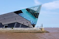 L'aquarium profond dans la coque, Yorkshire, R-U image stock