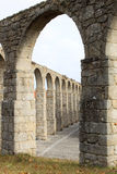 L'aquedotto antico di Vila fa Conde, Portogallo Fotografia Stock