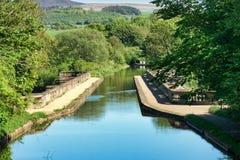 L'aquedotto di luna che porta il canale di Lancaster fotografia stock