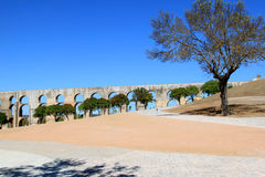 L'aqueduc d'Amoreira d'Elvas, Portugal Photo libre de droits
