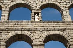 L'aqueduc de Segovia (Espagne) Images stock