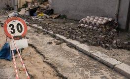 L'Aquila 3 anni dopo il terremoto Fotografia Stock