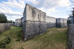 L ` Aquila Abruzzi, Włochy: kasztel obrazy royalty free