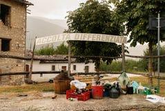 L'Aquila-Erdbeben, Abfalltrennung Lizenzfreie Stockfotos