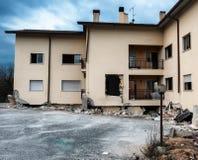 L'Aquila-Erdbeben, eingestürztes Aufbauen Stockfotos