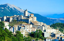 L`Aquila and Gran Sasso royalty free stock photo