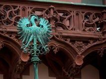 L'aquila sulla porta della chiesa di Walluf nel simbolo della Germania per l'evangelista Johannes Fotografia Stock Libera da Diritti